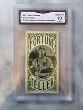 AARON JUDGE ROOKIE CARD 2017 GYPSY QUEEN FORTUNE TELLER GREEN 27/99 Gem Mint 10