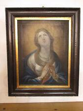 Quadro-dipinto a olio su tela Madonna in preghiera - epoca 800