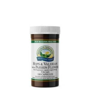 Nature's Sunshine Hops & Valerian with Passion Flower - 100 Capsules - Nervous S
