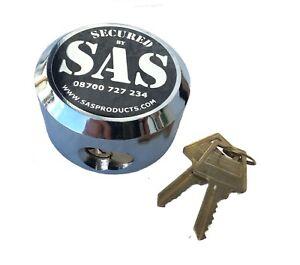 LOCK FOR GARAGE DEFENDER MASTER BLACK MODEL 73mm ROUND SOLID PADLOCK PUCK 2 keys