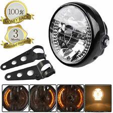 "Universal 6.5"" Motorcycle Hi&Lo Beam Headlight H4 Turn Signal Bracket Mount"