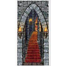 Cubierta de la puerta de entrada del castillo - 76 X 152 cm-decoración fiesta Halloween medieval