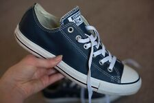 Converse all star UK 8 Navy and White Leather low tops