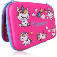 Pencil Case, Hard Cover, Unicorn Design, Comfortable, Large Storage, Pink Color