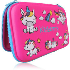 Pencil Case, Hard Cover, Unicorn Design, Comfortable, Large Storage, Pink Color