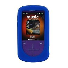 NEW Blue Silicone Skin for SanDisk Sansa Fuze Plus+ Case MP3 Fuse+ Cover Holder