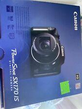 New in Box - Canon PowerShot SX170 IS 16.0 MP Camera - BLACK - 013803229042