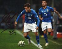 Foto Autografo Calcio Federico Chiesa Asta Beneficenza Soccer Coa Signed Sport