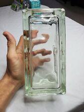 Glass Block BRICK VASE Tall Rectangular Mid-Century Vintage Retro West Germany