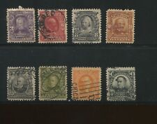 1902 US Stamps #302 305-311 Used F/VF Variety Postal Canceled