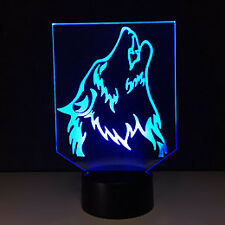Howling Wolf / Lobo / Dog LED Light - 7 Color Change Touch Button