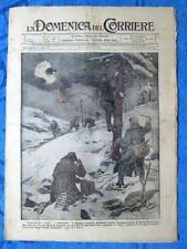 La Domenica del Corriere 17 dicembre 1916 WW1 Ragni - Zeppelin - Wilson
