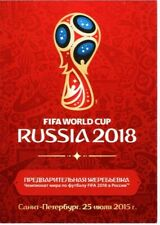 FIFA World Cup Russia 2018 Qualifying Draw Postcard B & First Day Cover A