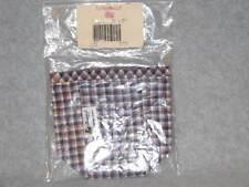 Longaberger Collectors Club Mini Waste Basket Plaid Fabric Liner Item #21784 NIB