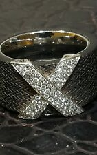 0.74CT DIAMONS MICFIE  RUBBER AND 18CT WHITE GOLD RING