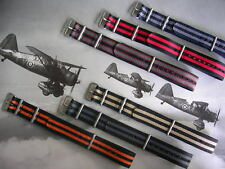 18mm Black-Red NATO g10 RAF Pilot watch band strap Bonded IW SUISSE 16 20 22 24