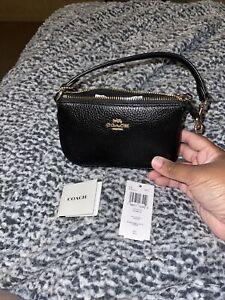NWT Coach Pebbled Leather Nolita 15 Black