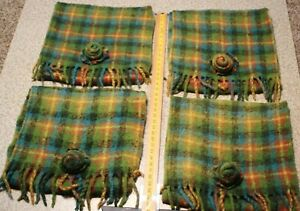 4 Mackenzie Childs Plaid Wool Pillow Cover Bag With Flap Closure