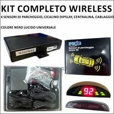 KIT ASSISTENTE WIRELESS SENZA FILI 4 SENSORI PARCHEGGIO DISPLAY BIP PER AUTO