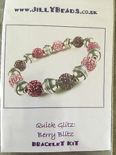Jilly Beads Quick Glitz: Berry Blitz Bracelet Jewelry Making Kit Shamballa