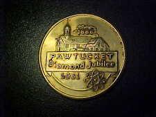 PAWTUCKET DIAMOND JUBILEE 1961 BRASS 50 CENT TRADE TOKEN!  -BB122DXX