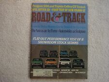 Road & Track 1975 August Peugeot 504 Celica GT Ford Escort VW C Opel Lancia