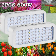 2× 600W LED Grow Lights Full Spectrum Lamp Bulbs for Plant Hydroponic Growing