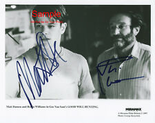 ROBIN WILLIAM MATT DAMON Good Will Hunting Signed Autographed Reprint 10x8 Photo