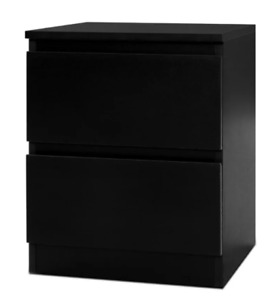 *Artiss Bedside Table Drawers Side Table Bedroom Furniture Nightstand Black Lamp