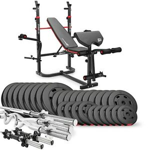 Hop-Sport Hantelbank 1065 Curlpult Lang-, Curl- & Kurzhantel Gewichte bis 173kg