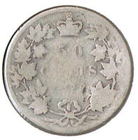 1872H Canada Silver 50 Cents