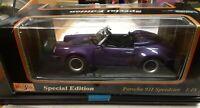1989 Maisto 911 Speedster Porsche Special Edition 1:18  purple