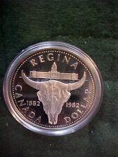 1982 Deep Cameo Proof Silver Dollar Coin Canada Commemorative Regina Collectible