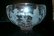 Lenox Disney Winnie The Pooh Tiger Piglet Lead Crystal Bowl Limited of 2500 Only