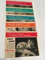 American Observer 1968, Vol. 47, Lot of 5, Nixon, Viet Nam, Moon Landing