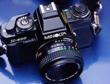 Escaso Negro Con Cuerpo Minolta X500 35MM cámara de cine PF Rokkor 50MM 1.7 Lentes