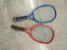 2 Vintage Leach Racquetball Bandido Racquets blue orange Vguc