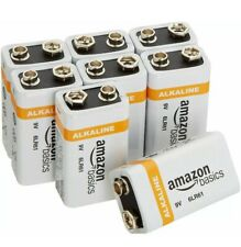 Amazon Basics 9 Volt Everyday Alkaline Batteries (8-Pack) 04/2023