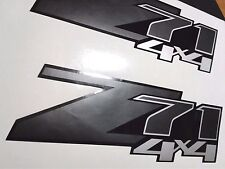 Z71 4x4 decals stickers silverado chevrolet truck chevy BLACK MATT  (set)