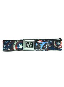 Captain America Seatbelt Belt Winter Soldier Shield Marvel Super Heroes New NWT