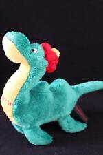 "Dowman Soft Touch Soft Stuffed Nessie Plush/Toy Green/Yellow/Red 9"" (A23)"