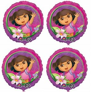 "4 x 18"" Dora the Explorer Foil Mylar Balloon Party Supply Decoration"