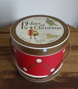 New in Drum WILLIAMS SONOMA 12 DAYS OF CHRISTMAS SALAD DESSERT PLATES SET 12
