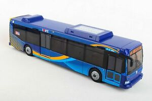Daron MTA 11 inch Single Bus in New Blue Livery Friction Rolling