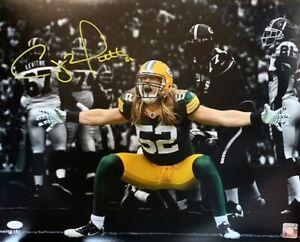 Packers Super Bowl Champ CLAY MATTHEWS Signed 16x20 Photo #1 AUTO - JSA