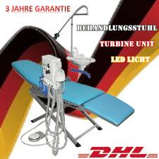 Dental Behandlungsstuhl Folding Chair with LED Light Turbine 4 Hole Weak Suction