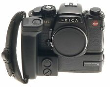 LEITZ R6 BLACK CLEAN SLR 35mm FILM CAMERA BODY WITH MOTOR WINDER LEICA HAND GRIP