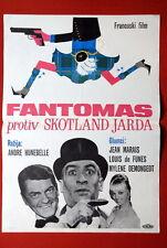 FANTOMAS VS SCOTLAND YARD FRENCH DE FUNES DEMONGEOT MARAIS 1964 YU MOVIE POSTER