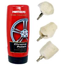 4pc MOTHERS California Gold Chrome Polish 12oz Wheel Polisher Buff Mag Kit 05212