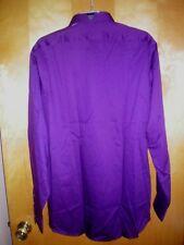 Van Heusen Regular Fit Purple Flex Dress Shirt Mens 17 34/35 - Gm18